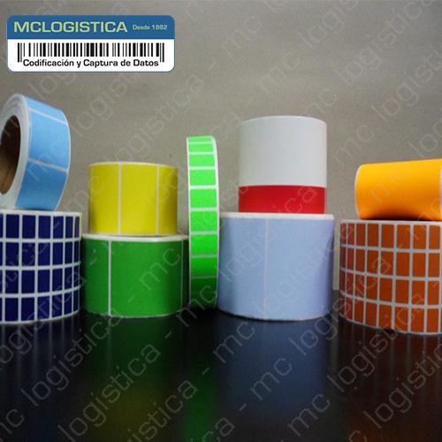 Etiquetas fondeadas ( impresas a un color)