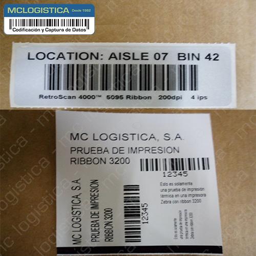 Etiquetas para impresión de código de barras
